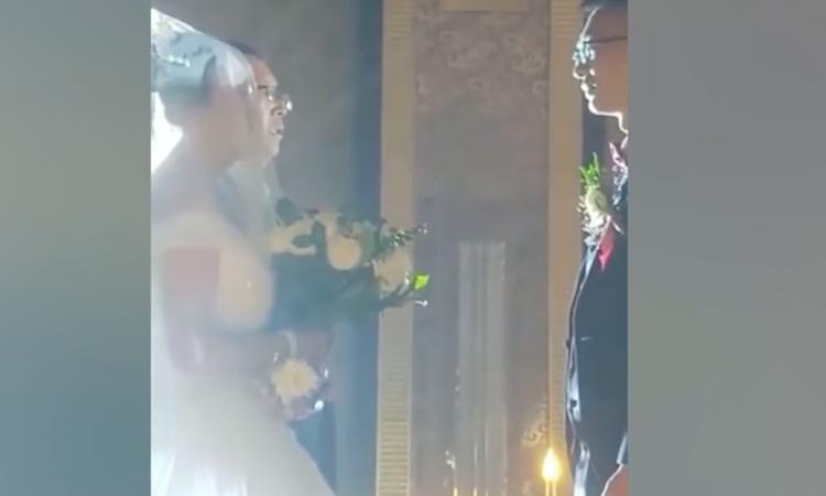 Cô dâu hóa ông già vì góc quay