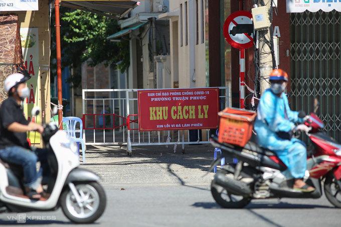 Đến ngày 24/9, Đà Nẵng còn 21 điểm phong toả trong các khu dân cư. Ảnh: Nguyễn Đông