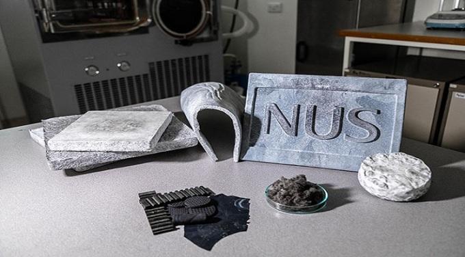 Một số tấm aerogel được nhóm nghiên cứu chế tạo từ lốp xe. Ảnh: Nhóm nghiên cứu