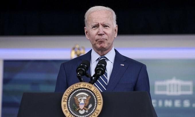 Tổng thống Mỹ Joe Biden phát biểu tại Nhà Trắng hôm 27/9. Ảnh: AFP.