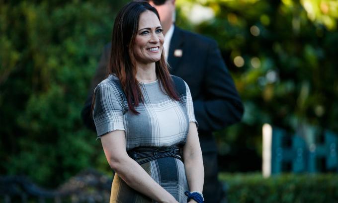 Stephanie Grisham tại Nhà Trắng, thủ đô Washington DC vào tháng 6/2019. Ảnh: AP.