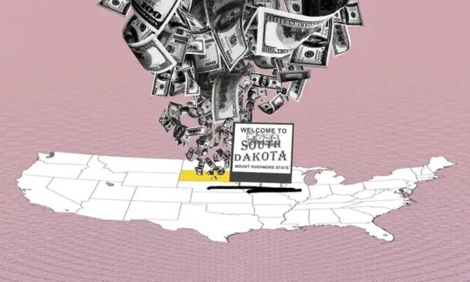 Bang Nam Dakota của Mỹ đang trở thành điểm đến ưa thích mới cho giới siêu giàu để che giấu tài sản nhờ chính sách thoáng trong việc thành lập các quỹ tín thác. Ảnh minh họa: Guardian.