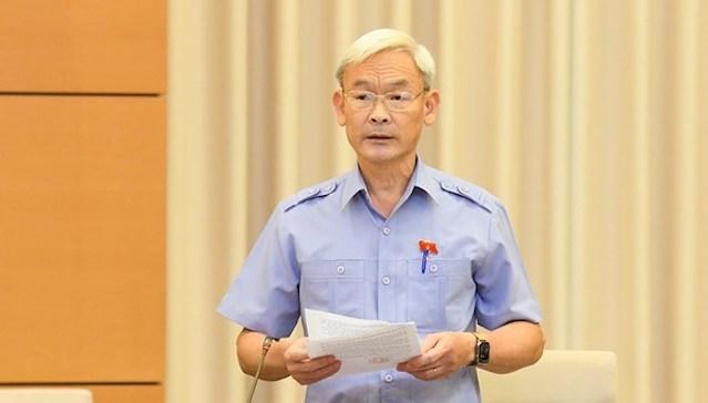Chủ nhiệm Ủy ban Tài chính - Ngân sách Nguyễn Phú Cường. Ảnh: Media QH