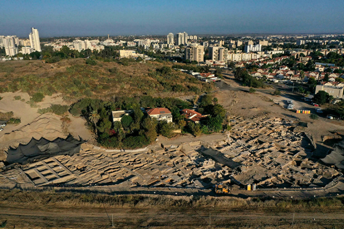 Nhà máy sản xuất rượu vang lớn nhất thời Đông La Mã ở Israel. Ảnh: AFP
