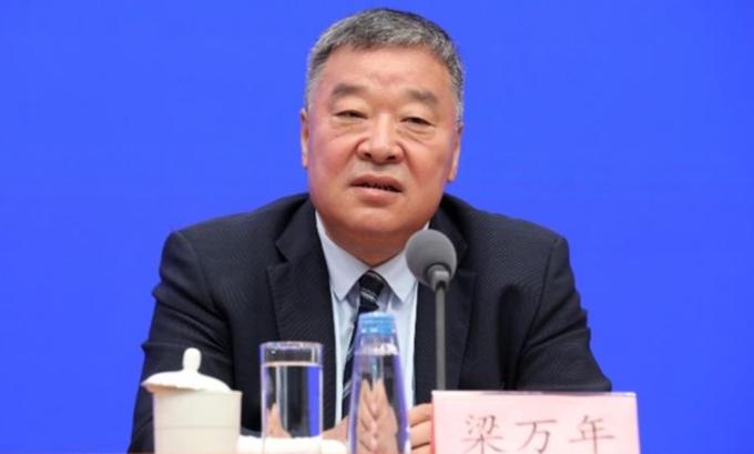 Lương Vạn Niên, người đứng đầu nhóm các nhà khoa học Trung Quốc làm việc với thanh tra WHO, trong cuộc họp báo hồi tháng 7 tại Bắc Kinh, Trung Quốc. Ảnh: Visual China