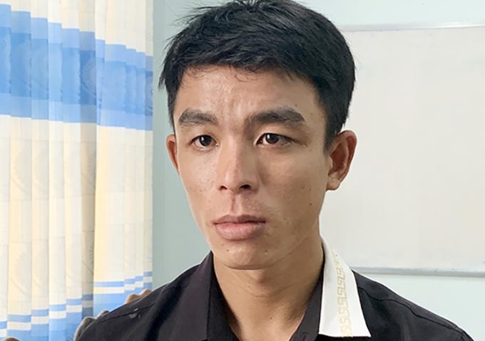 Nguyễn Trọng Hữu tại cơ quan công an. Ảnh: An Phú