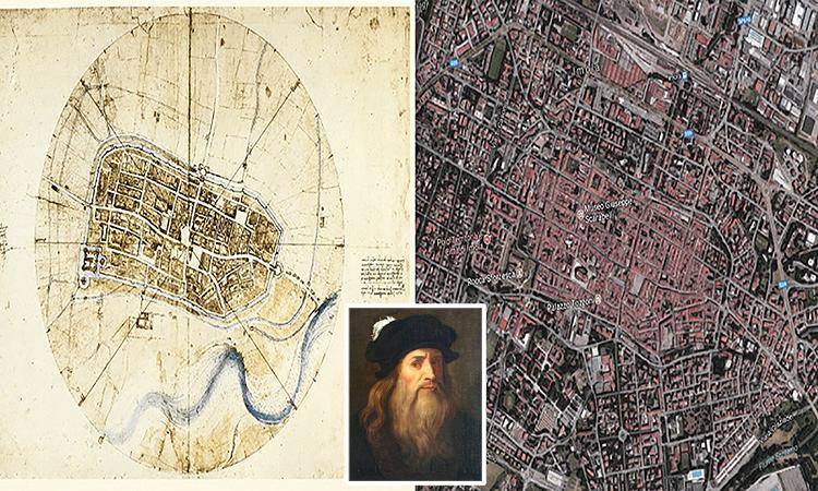Cách Leonardo da Vinci lập bản đồ 'vệ tinh' năm 1502